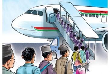 वैदेशिक रोजगारीमा जाने नेपाली १५ प्रतिशतले घटे