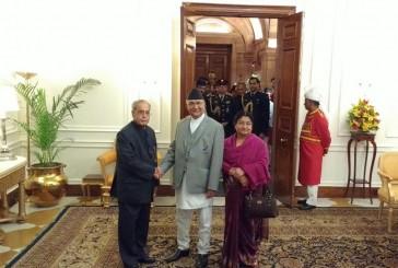 भारतीय राष्ट्रपतिसँग प्रधानमन्त्रीको भेट