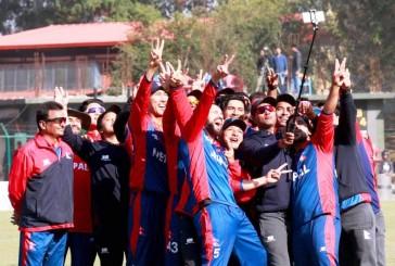 केन्याविरुद्धको दोश्रो खेलमा नेपाल ७ विकेटले विजयी