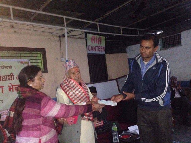 रोयल पाण्डेलाई पोर्चुगलबाट १ लाख ५२ हजार सहयोग हस्तान्तरण