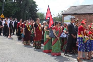 टनब्रीज फेस्टिभलमा' गुल्मेली नौमती बाजा सहित' टनब्रीज नेपाली कम्युनिटी प्रथम