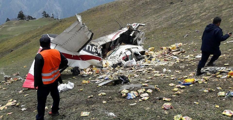 अपडेट : दुर्घटनाग्रस्त अवस्थामा भेटियो मकालु एयरको जहाज